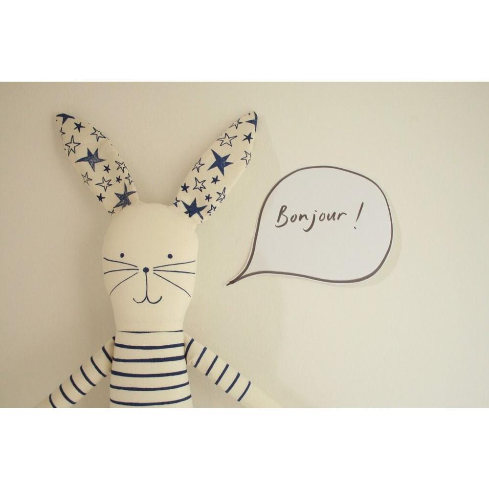 I Love Paris Rabbit Blue