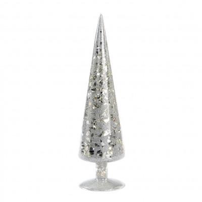 Mosaik-Baum 30 cm | Glas | Silber
