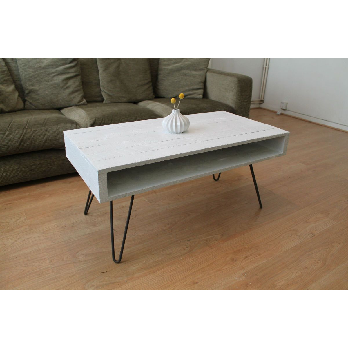 'Hairpin' White Coffee Table