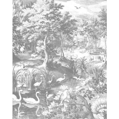 Wallpaper Panel Engraved Landscapes