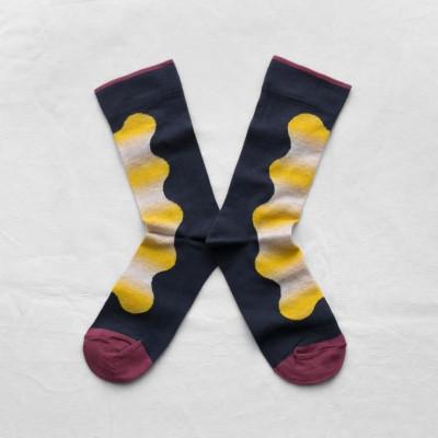 Slate Blue Ikat Socks