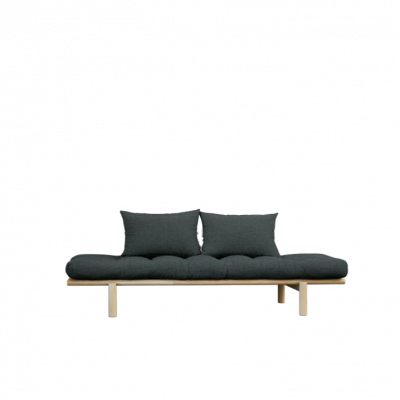 Daybed Pace | Natural Frame & Slate Grey Mattress