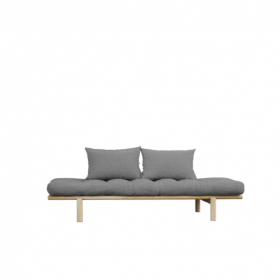Daybed Pace | Natural Frame & Granite Grey Mattress