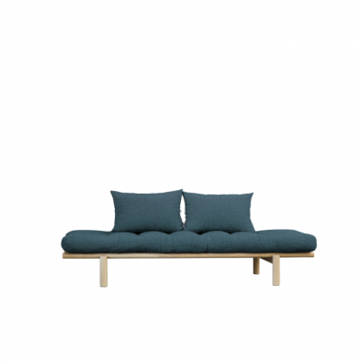 Daybed Pace | Natural Frame & Deep Blue Mattress
