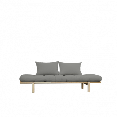 Daybed Pace | Natural Frame & Grey Mattress