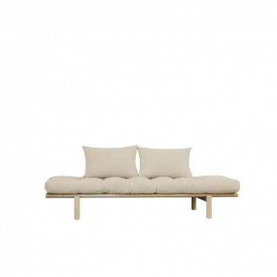 Daybed Pace | Natural Frame & Beige Mattress