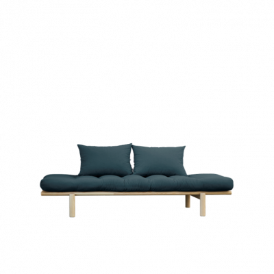 Daybed Pace | Natural Frame & Petrol Blue Mattress