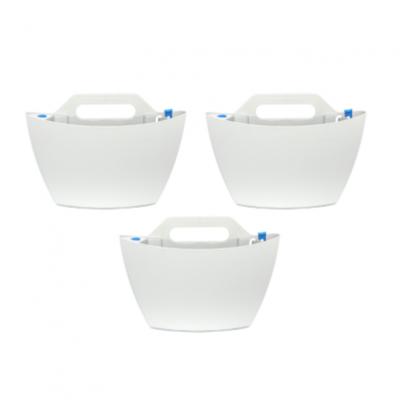 3er-Set selbstbewässernde Wand-Pflanzgefäße | Weiß