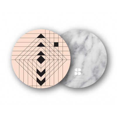 2er-Set Untersetzer | Navajo Nude/Weißer Marmor