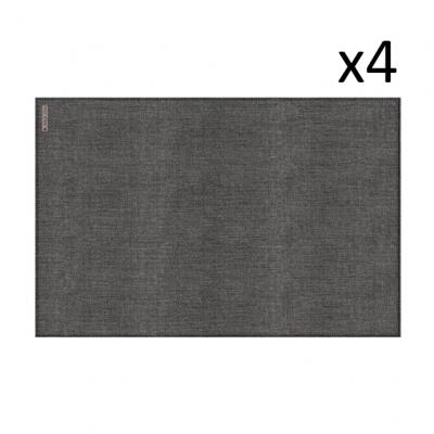Vinyl-Platzset Leinen 4er-Set | Grau