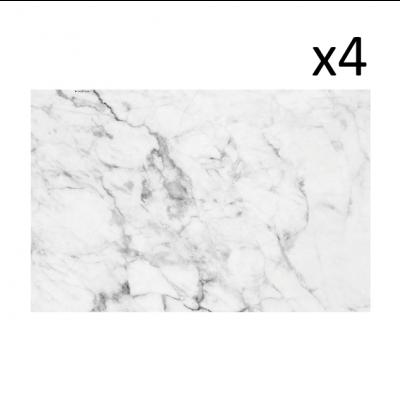 Vinyl-Tischsets Carrara 4er-Set