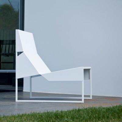 Outdoor Lounge Chair Papier | Weiß