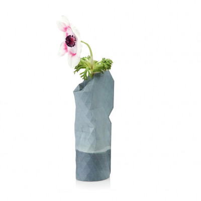 Paper Vase Cover Small | Watercolor Blue