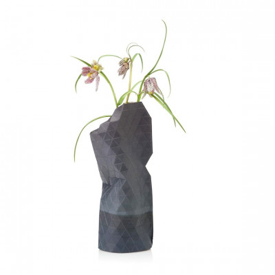 Paper Vase Cover Small | Watercolor Grey