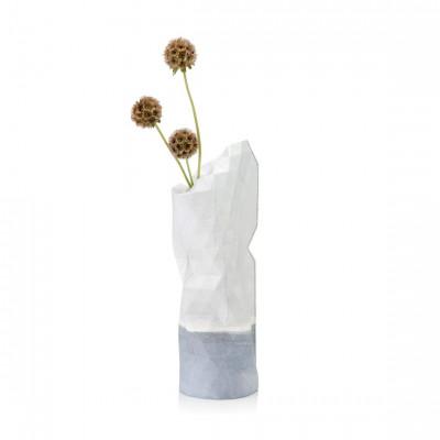 Paper Vase Cover Small | Watercolor White