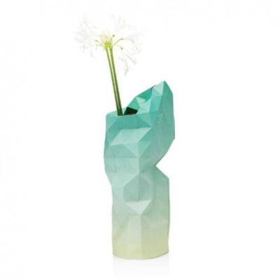 Paper Vase Cover | Green Fade