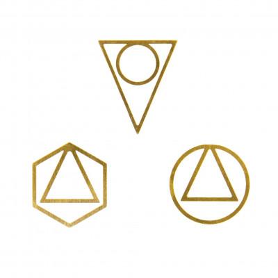Büroklammern Brass Large | Satz von 3