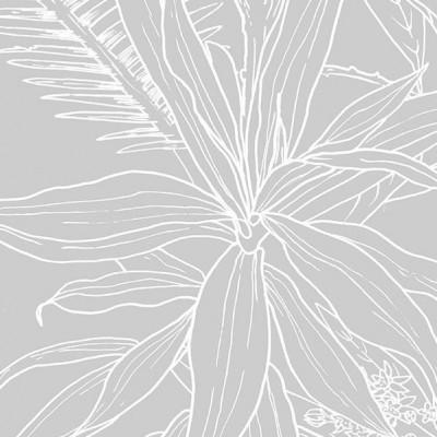 Tapete Dschungel Tropisch Grau Hintergrund | Deko
