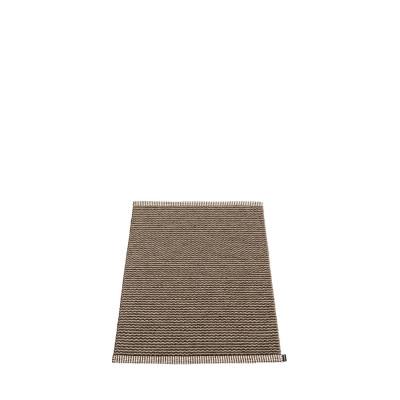 Teppich Mono   Dunkelbraun - Dunklelleinen