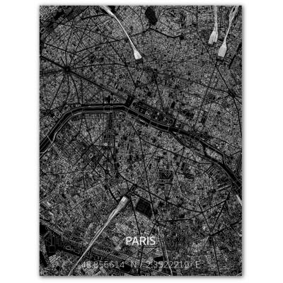 Metall-Wanddekoration | Stadtplan | Paris