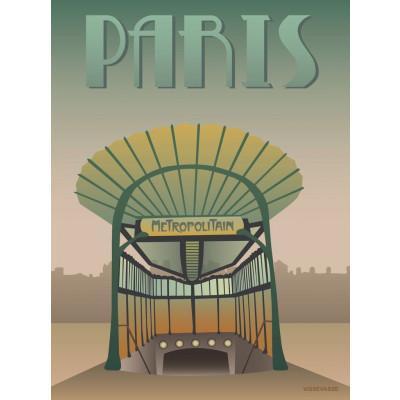 Paris Poster   Metro