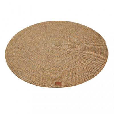 Runder Teppich Parker 130 cm   Dunkelgelb