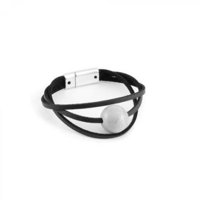 Armband PARTICULAR | Grau & Schwarz