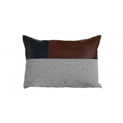 Tailor Made Patch Pillow   Dark Brown