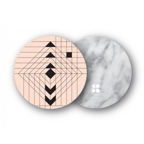 2er-Set Untersetzer   Navajo Nude/Weißer Marmor