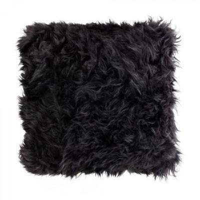 Schafsfell-Kissen   Schwarz