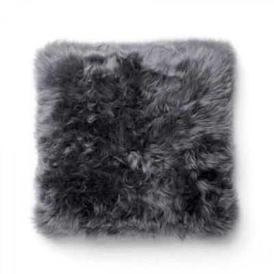 Schaffell-Kissen   Grau
