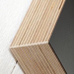 Square Chalk-and Magnetic Board Fushia