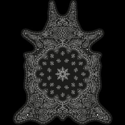 Vinyl Floormat Bandana   Black