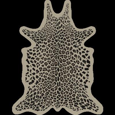 Leopard Vinyl Floormat   Beige