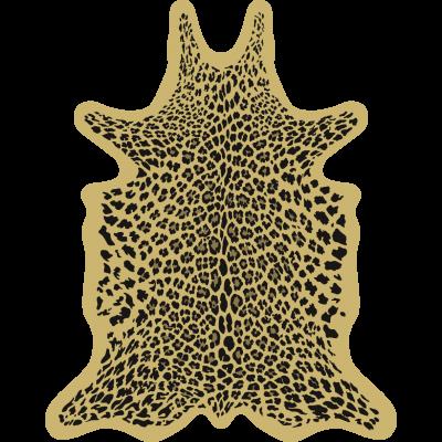 Leopard Vinyl Floormat   Yellow