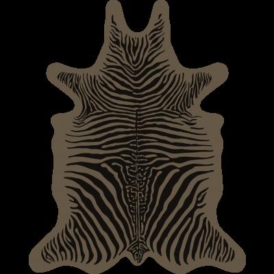 Zebra Vinyl Floormat   Brown
