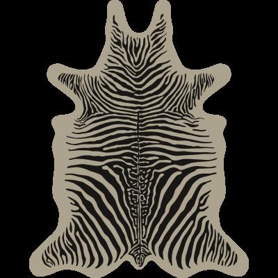 Zebra Vinyl Floormat   Beige