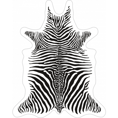 Zebra Vinyl Floormat   White