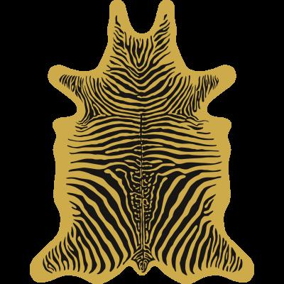 Zebra Vinyl Floormat   Yellow