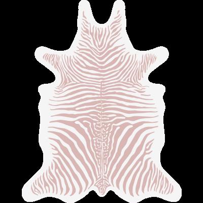 Zebra Vinyl Floormat   Pink