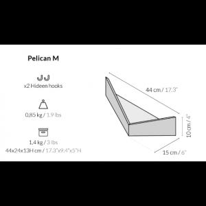 Wall Storage Unit Pelican | Walnut
