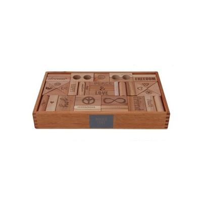 Peace & Love Blocks XL 72 pcs   Wooden Story