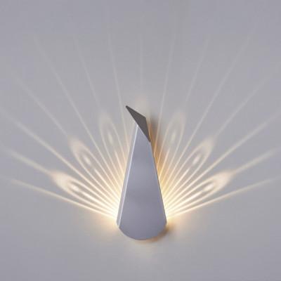 Wall Light Peacock   Aluminium   Silver