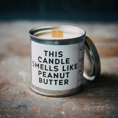Scented Candle Can   Peanut Butter