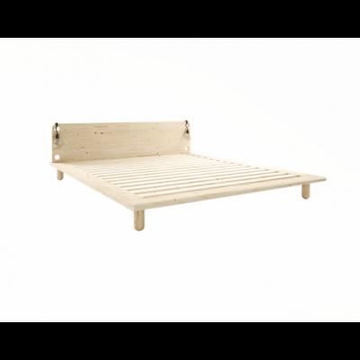 Peek Bed Frame + Bed Lamps | Natural