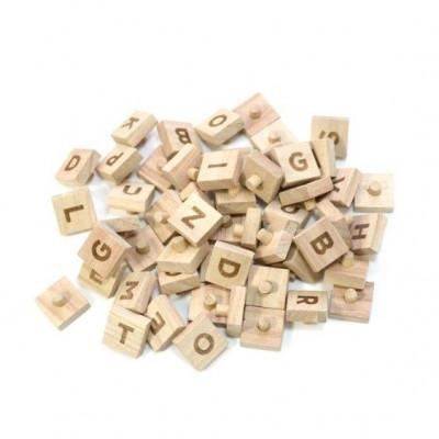 Wooden Pegboard Letters