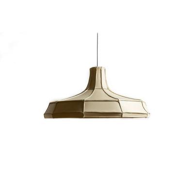Leder-Lampenschirm Horizontal | Beige