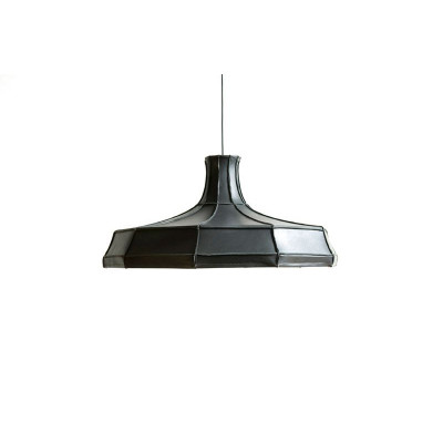 Leder-Lampenschirm Horizontal | Grau