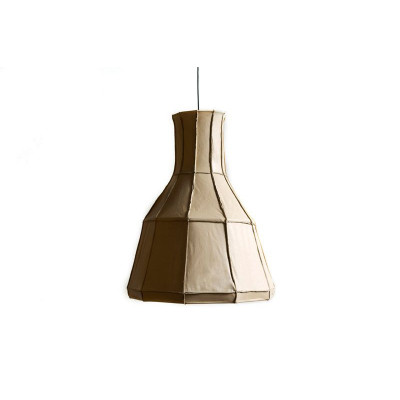 Leder Lampenschirm Vertikal | Beige