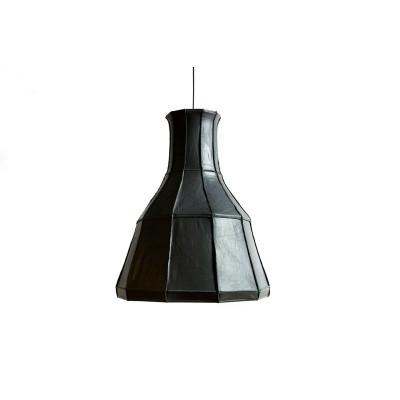 Leder Lampenschirm Vertikal | Grau